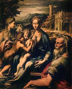 (Илл. Пармиджанино. Мадонна со Святой Захарией. Около 1530 г.)